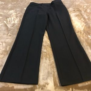 Pants black  2 front pockets  zips up with 2 clips
